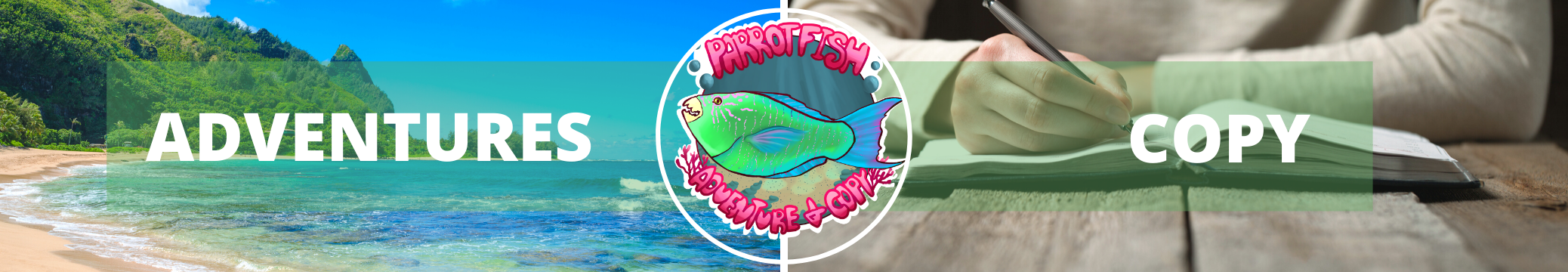 Parrotfish Adventures and Copy